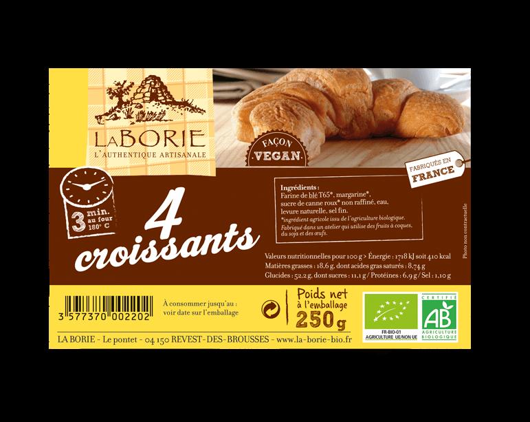 Croissant façon vegan La Borie bio packaging