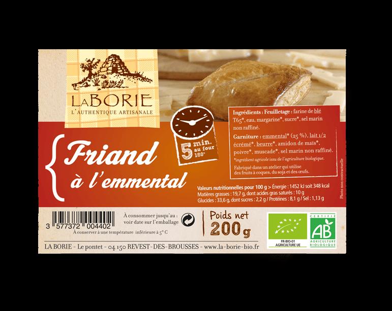 Friand à l'emmental La Borie bio packaging