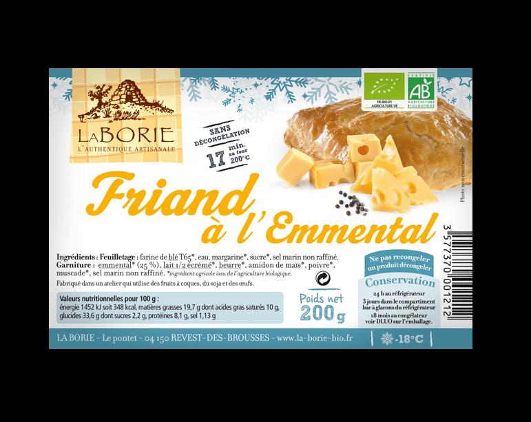 Friand à l'emmental surgelé La Borie bio packaging grand