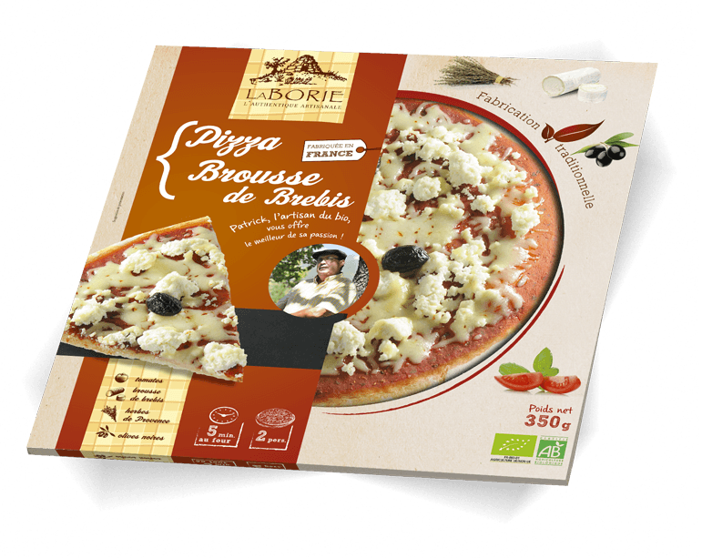 Pizza à la brousse de brebis La Borie Bio packaging