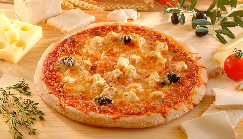 Pizza à la brousse de brebis La Borie Bio