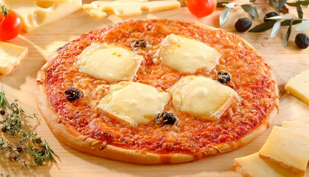 Pizza à la raclette La Borie Bio horizontale