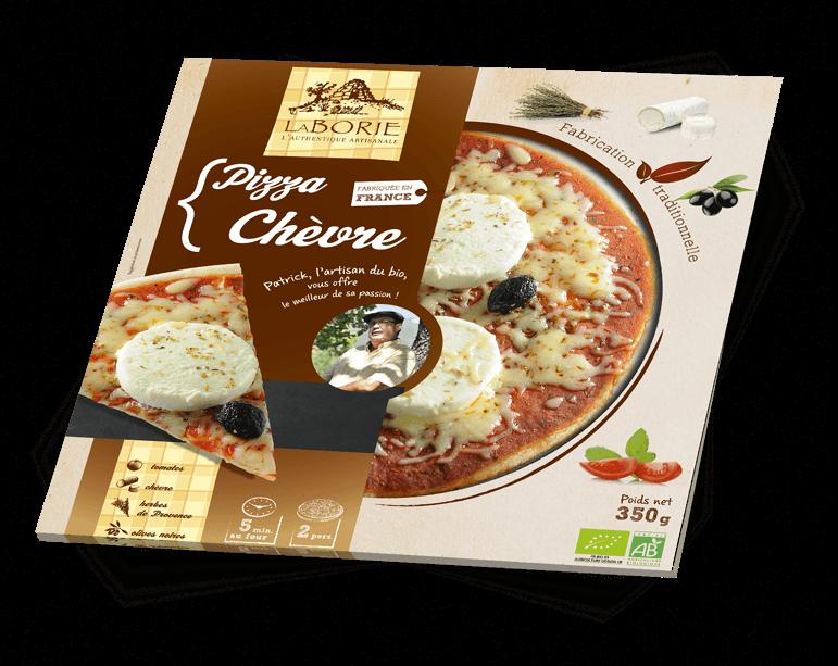 Pizza au chèvre La Borie Bio packaging