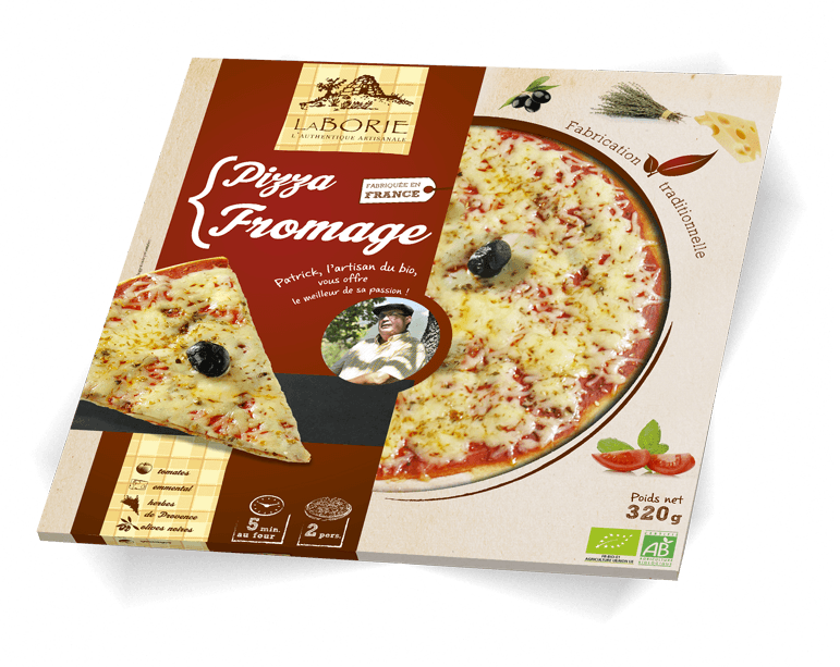 Pizza au fromage La Borie Bio packaging