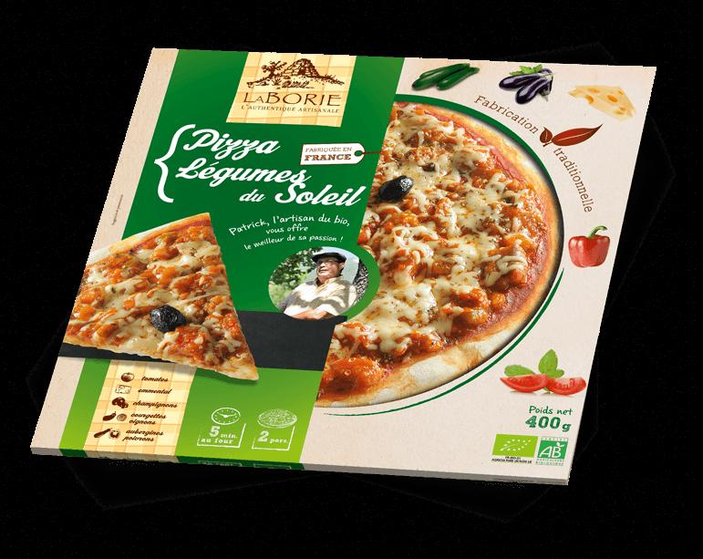 Pizza aux légumes du soleil La Borie Bio packaging