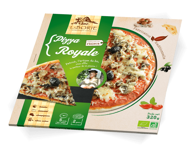 Pizza royale La Borie Bio packaging