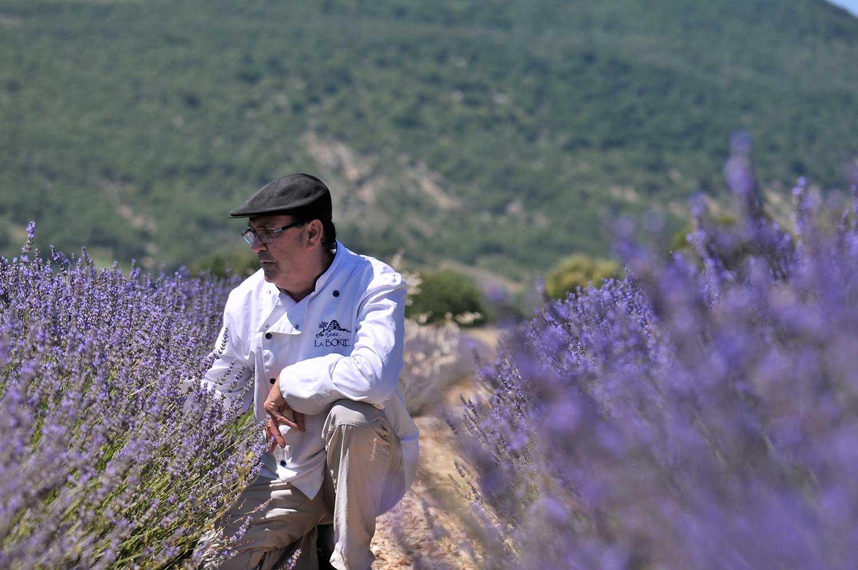 Patrick Labranche dans un champs de lavande
