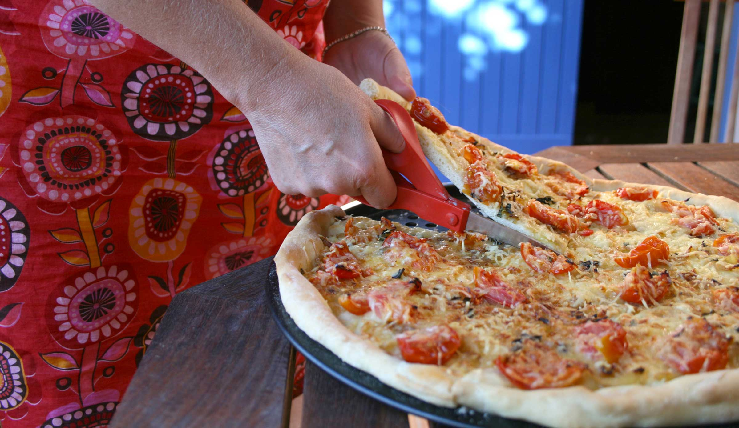 pizza decoupe grand mère