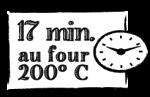 17 min. au four 180° C